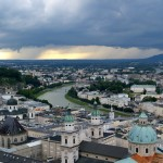 sunset at Salzburg