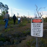Hawaii Volcanoes National Park do not enter sign