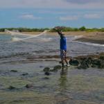fishing by net