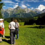 Switzerland hikers