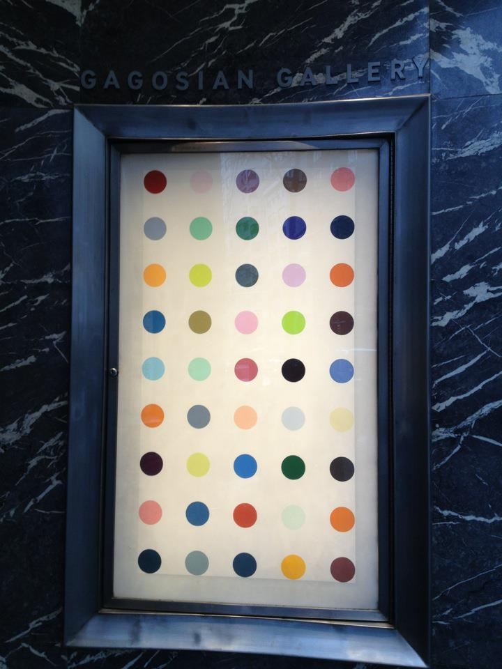 "Gagosian Gallery Challenges Travelers to ""Spot"" Damien Hirst"