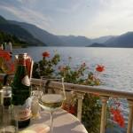 restaurant overlooking Lake Como