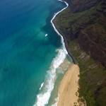 Napali Coast and beach on Kauai
