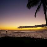 Beach House restaurant sunset Kauai
