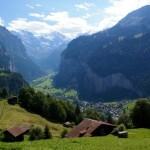 Lauterbrunnen Valley view from Wengen