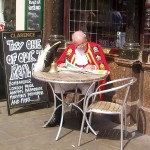 colonial man at a pub