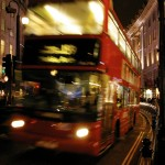 double-decker bus on Regent St.