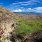 Hiking trail to top of Diamond Head