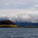 clouds on the west Oahu coast