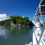 boat to islet in Los Haitises National Park