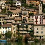 lakeside houses on Lake Lugano