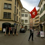 Vevey Swiss flag toss