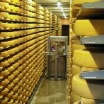 cheese factory in Gruyeres