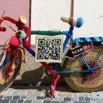 yarn bombing bike melk austria