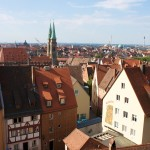Nuremberg old town view from castle