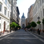 View of St. Stephen's Basilica in Budapest Hungary