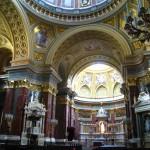 Inside St. Stephen's Basilica Budapest Hungary