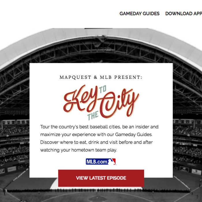 MapQuest Baseball Gameday Guides