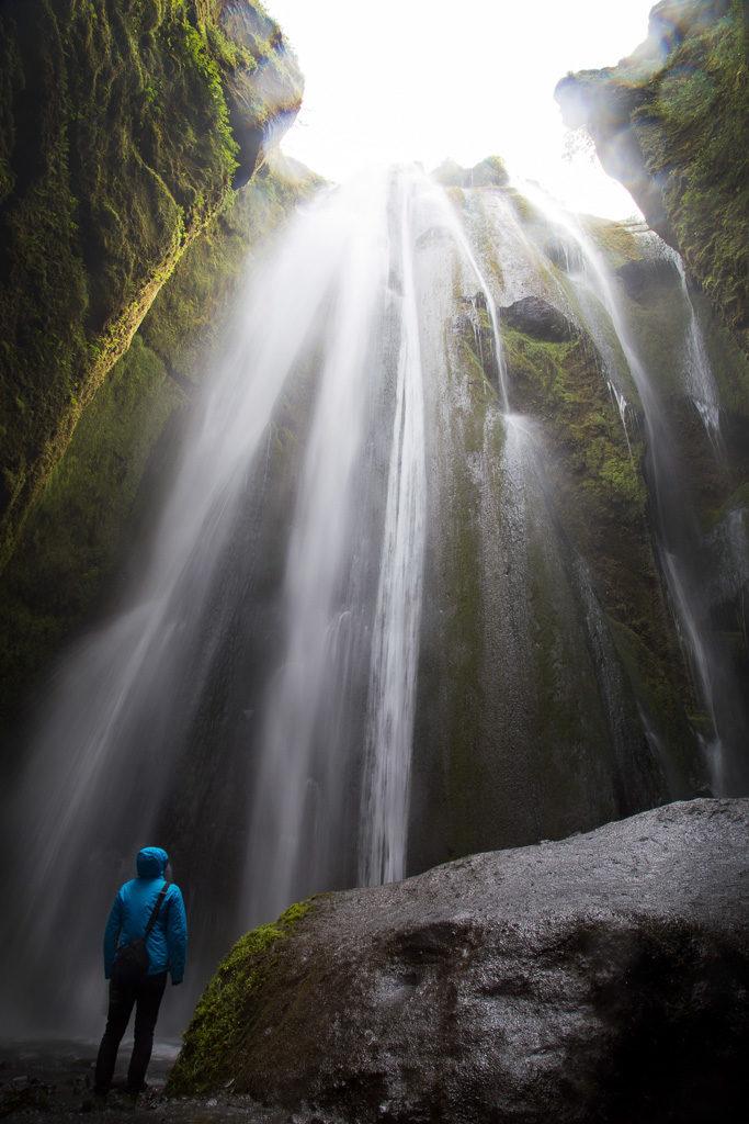 Gljúfrabúi iceland waterfall