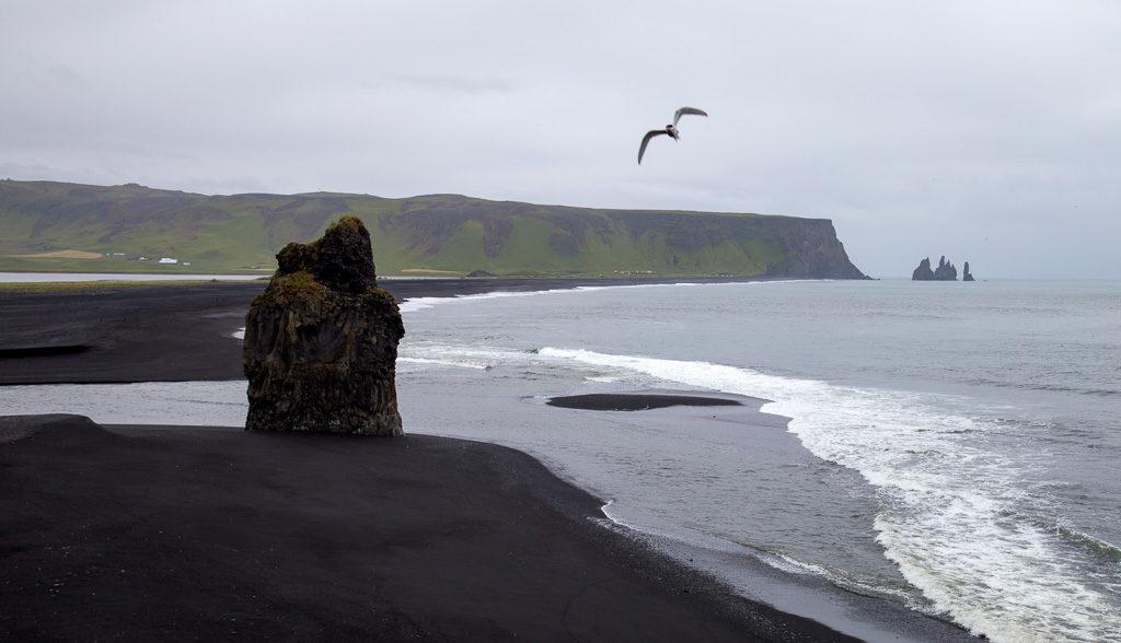 South Iceland black beach